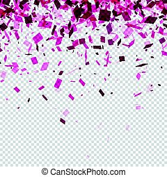 Checkered background with fuchsia confetti. - White...