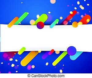 Colorful abstract background on blue.