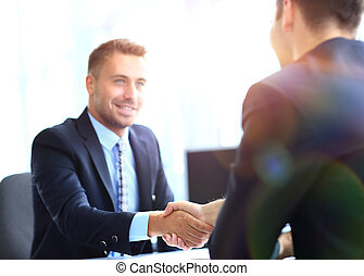 business people meeting in a modern office - businessman...