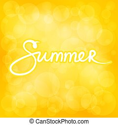Summer Yellow Bokeh Background