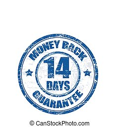money back stamp - Blue grunge rubber stamp with the text...