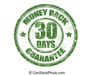 money back stamp - Green grunge rubber stamp with the text...