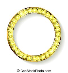 gold round frame cinema on a white background