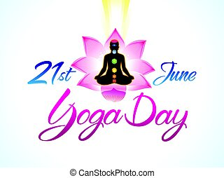 abstract artistic yoga day background