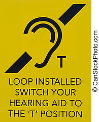 Hearing loop public information sign
