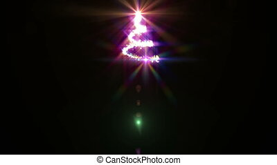 xmas tree abstract light