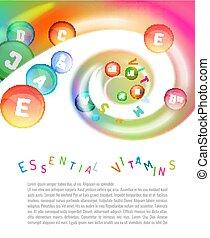Vitamin Complex Swirl - Vitamin complex. Different vitamins...