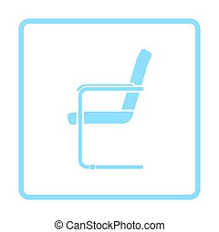 Guest office chair icon. Blue frame design. Vector...