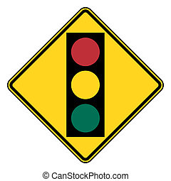 Traffic light signal sign