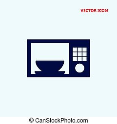 bowl in a microwave vector icon