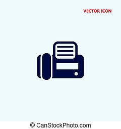 fax,  vector, vista, cima, icono