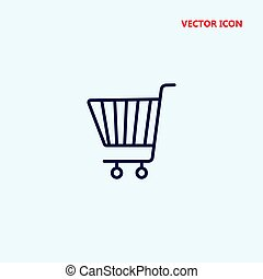 grocery shopping cart vector icon