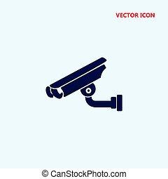 surveillance video camera vector icon