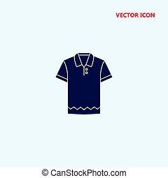 cotton polo shirt vector icon
