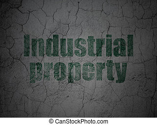 Law concept: Industrial Property on grunge wall background