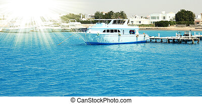 boat on the sea - a nice boat on the sea