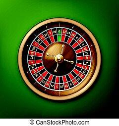 Casino roulette wheel - Vector realistic casino roulette...