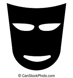 Theatre mask the black color icon . - Theatre mask it is the...