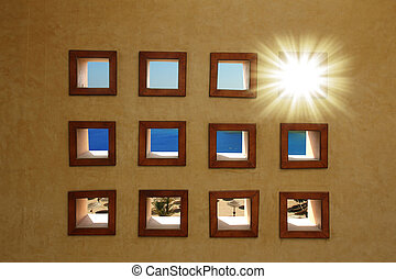 Windows  with sea view