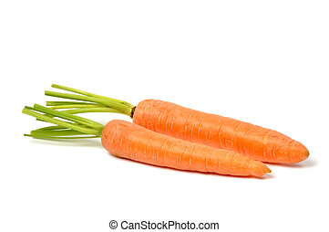 Carrots on White - Fresh red carrots on white background