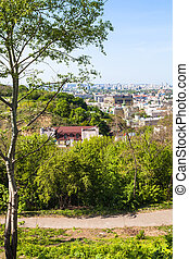 Castle Hill and Podil district in Kiev city - travel to...