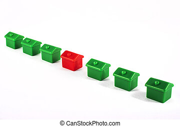 Row of Toy Houses
