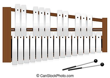 Metallophone Halftones Metal Bars Three Octaves -...