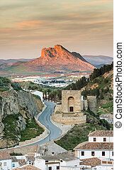 Antequera at sunset,Spain