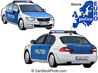 Estonia Police Car