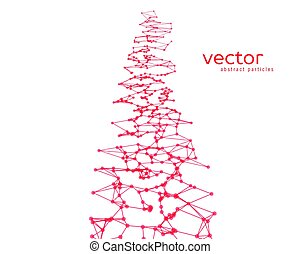 Vector background with red abstract particles. - Vector...