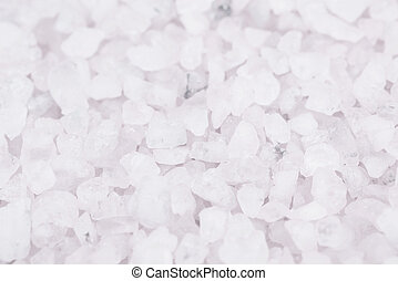 Surface coated with salt crystals - Surface coated with the...