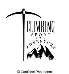 Climbing sport adventure. Mountain hiking, exploration...