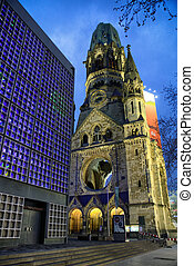 Kaiser Wilhelm Memorial Church in Berlin, Germany - BERLIN,...