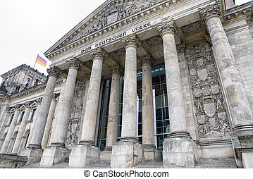 Reichstag building in Berlin, Germany - Reichstag building...