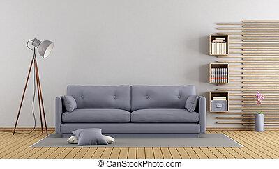 Minimalist lilac living room