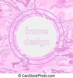 Vintage grunge pink frame design