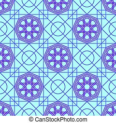 Abstract seamless patterns in Islamic style.