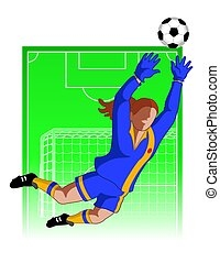football / soccer goal keeper female - football / soccer...
