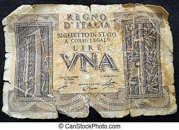 1943, italiano, 1, lire, cuenta