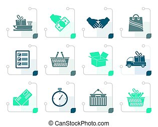 Stylized Shipping and logistic icons