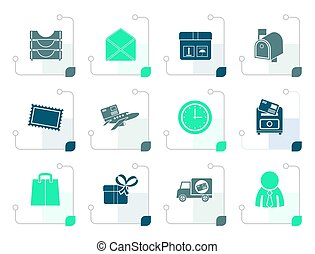 Stylized Post, correspondence and Office Icons
