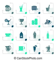 Stylized beverages and drink icons