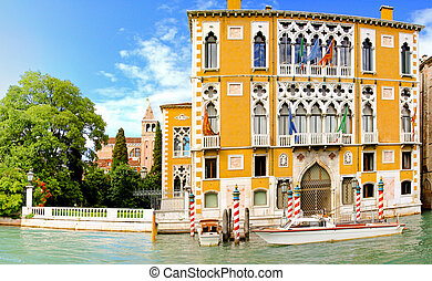 Academia Venice - Famous Academia building at canal in...