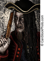 halloween make-up and costume - Portrait of a noble brave...
