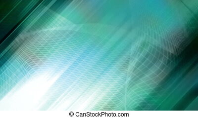 Blue slanted streaks and wire frame looping CG abstract...