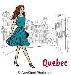 St Jean Street in Quebec - Sketch of St Jean Street in...