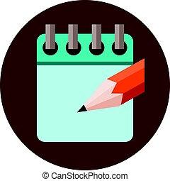 Agenda Appointment Pencil Logo Design