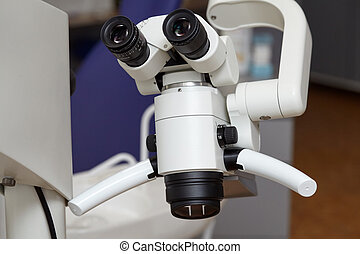 Professional endodontic medical binocular microscope in the...