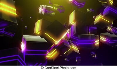 Abstract neon squares watch HD