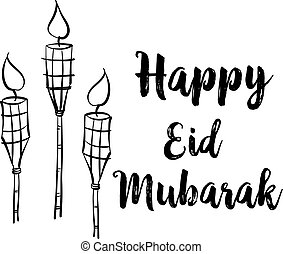 Happy Eid Mubarak celebration collection